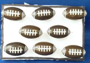 FOOTBALL Push Pin - Set Of 8 Handmade Decorative Sport Ball Toy Tacks