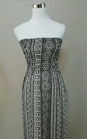 PAPAYA Ivory & Black Long Strapless Dress Size S SMALL Style D6368 NEW WITH TAG