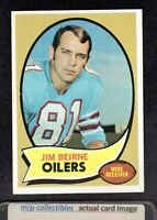 1970 Topps #19 Jim Beirne Houston Oilers Purdue Football ROOKIE Card EX/MT