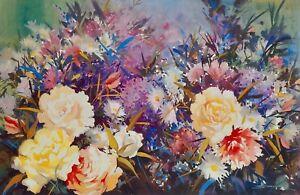 Touch of Spring by John Sindelar. Decorative Floral and Original Art Print.
