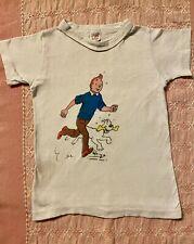 Vintage 70's HANES USA Cotton Comic Tintin Herge Soft Thin Kids T-shirt Top