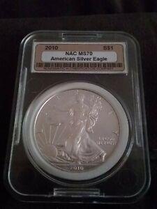 2010 American Silver Eagle NAC MS 70