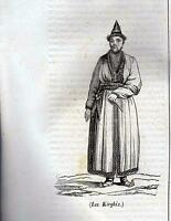 KIRGHIZ XILOGRAFIA PRIMA META' '800 (1835 ?)  TRATTA DA LA MOSAIQUE