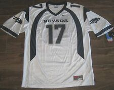 NIKE NEVADA WOLFPACK FOOTBALL JERSEY MENS XL AUTHENTIC NWT WHITE #17 NCAA