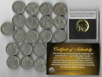 GREAT DEPRESSION Antique US Buffalo Indian Nickel Coin Collection Gold LOT:308