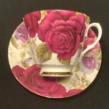 Duchess Bone China England Cabbage Rose Tea Cup and Saucer Sweet Pea