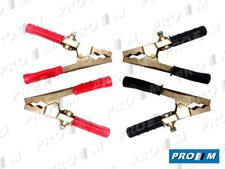 Juego pinzas para cable arranque hasta 250A (2 negras y 2 rojas) COBRE MACIZO