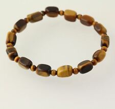 NEW Tigers Eye Beaded Bracelet - Stretch Brown Stones Women's Statement