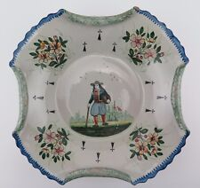 19th century French faience Hubaudiere-Bousquet Quimper dish.