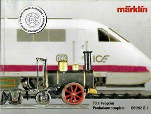 """""""MARKLIN CATALOGO 1991/92"""" EDIZIONE ITALIANA  BUONE CONDIZIONI 336 PAGINE"""