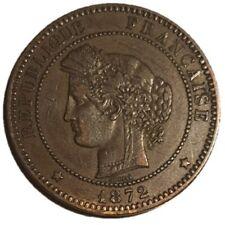 France, 10 centimes Coin, 1872 A, Paris, AU