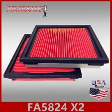 FA5824(X2) 16546-JK20A OEM QUALITY ENGINE AIR FILTER: 2013 EX37 & 2008-12 EX35