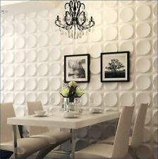 Easy Peel & Stick Durable Plastic 3D Wall Panel-CIRCLE. 12 Panels/32sf