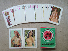 LUCKY CHIPS vintage 1970s 54 pin-up nude playing cards deck made in Hong Kong
