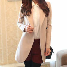 Women's Solid Wool Blend Basic Jackets