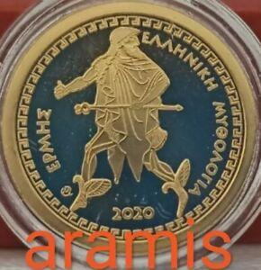 BEST PRICE Proof GOLD 🅰️ Greece 100 Euro 2020 🅰️ God HERMES 🅰️ GRECIA GRECE