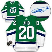 Sebastian Aho Autographed Hartford Whalers Adidas Authentic Pro Hockey Jersey