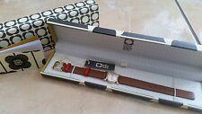 NEW Orla Kiely Watch OK2046 Cecelia Tan Leather Gold Strap Womens Girls RRP £90