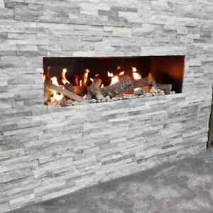 SENSO FIREPLACES Frameless 1000 Hole in the wall Gas Fire REMOTE CONTROL