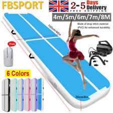 4m 5m 6m 7m Inflatable Air Track Gymnastics Tumbling Airtrack Mat Floor +Pump UK