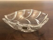 """WATERFORD Marquis CRYSTAL Palma Sculpted 7"""" Oval Bowl"""