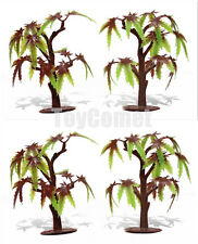 4 pcs Plastic Maple Tree Models Diorama Prop Toy Soldiers Army Men Accessories