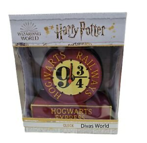 Harry Potter Hogwarts Railways Express Clock 9 3/4 Platform Wizarding World Gift