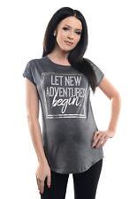 Purpless Maternity Slogan Design Boyfriend Fit Pregnancy Cotton Top Tee 2201