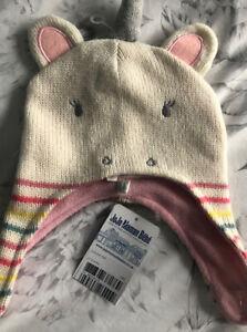 Jojo Maman Bebe Unicorn Hat 0-12 Months BNWT