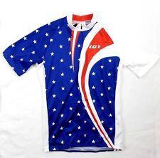 Louis Garneau Mens Velo Americana Stars Stripes 1/2 Zip Cycling Jersey Sz Large