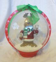2007 Musical LED Snow Globe Animated Reindeer