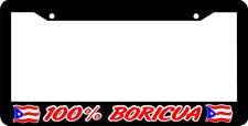 100% BORICUA  PUERTO RICO RICAN FLAG  License Plate Frame