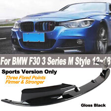 2Pcs ABS Front Bumper Lip Splitter For BMW F30 3 Series M Sports Style 2012-2018