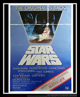 STAR WARS RETURN OF THE JEDI D 27x40 One Sheet Movie Poster Rerelease 1983