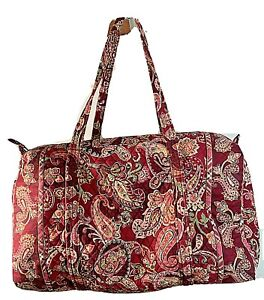 """Vera Bradley Large 22"""" Duffle Bag in Piccadilly Plum Retired Fall 2005 paisley"""