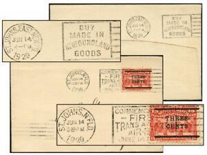 NEWFOUNDLAND JUN 14 1929 ST. JOHNS, EAST NEWFD SLOGAN