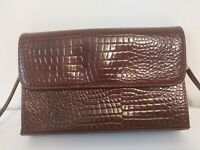 Vintage St Michael Mock Croc Handbag, classic style, everyday use, smart,