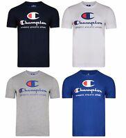 New Mens Champion Sports Cotton Logo T-Shirt, Top - Vintage Retro American