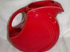 "Fiesta LARGE DISC PITCHER -  7 1/2"" tall x 8 1/2""  - SCARLET Red"