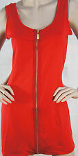 Tight 5 Color Clubbing Dress Zipper Front Tank Party Ball Cocktail Clubwear M-XL