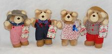VINTAGE WENDY'S 1986 FURSKIN BEAR COLLECTION HATTIE BOONE DUDLEY FARRELL W/TAGS