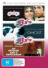 Grease / Ghost / An Office And A Gentleman (DVD, 2007, 3-Disc Set) Region 4 VGC!