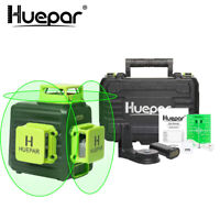 Cross Line Self leveling Laser Level Green Beam 3D 360 + Hard case portable