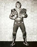 Retro Calgary Stampede Owen Hart Blue Blazer Wrestling Photograph 8x6 WWF WCW