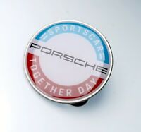 Original PORSCHE SPORTSCAR TOGETHER DAY Pin Anstecker Metall 30 mm Button