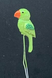 1:12 Scale Single Resin Green Parrot On 2 Metal Legs Tumdee Dolls House Bird