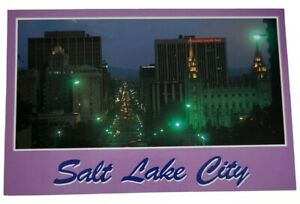 "Postcard: Salt Lake City Utah, ""The City Light's"" Unposted/ Unmarked"