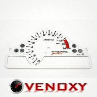 Honda CBR 1000 RR 2006-2007 v.1 Aftermarket Instrument Cluster White Face Gauges