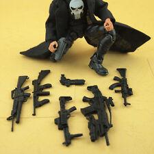 "6PCS ""Weapon Guns"" For MARVEL Deadpool & Cyborg Crossbones Figure  Accessories"