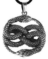 Schlangen Anhänger Silber 925 Schlange Snake Knoten Kette  Auryn Nr. 330